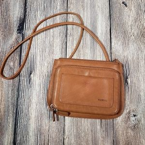 Fossil small crossbody camel color bag